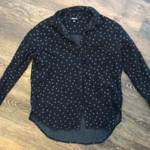 Madewell XS Button up shirt with print
